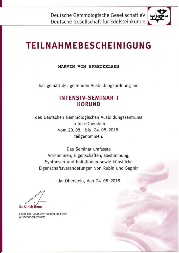 Urkunden DGemG für Infoseite Zertifizierter Gemmologe
